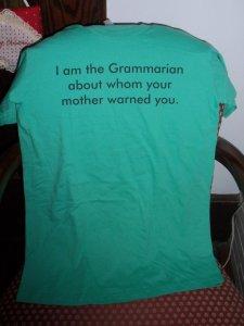 Grammarian t shirt