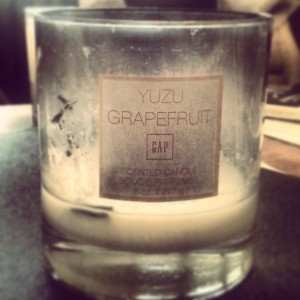 yuzu grapefruit candle