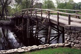 rude bridge that arched the flood