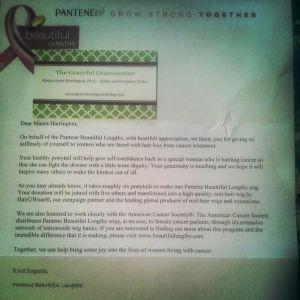 pantene letter