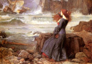 Miranda (The Tempest) by John William Waterhouse