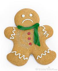 crying gingerbread man