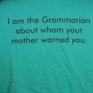 grammarian t shirt INSTAGRAM