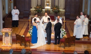 Our wedding at the Chapel of the Immaculate Conception at Seton Hall University in South Orange, New Jersey