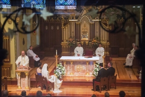 Our wedding at the Chapel of the Immaculate Conception, Seton Hall University